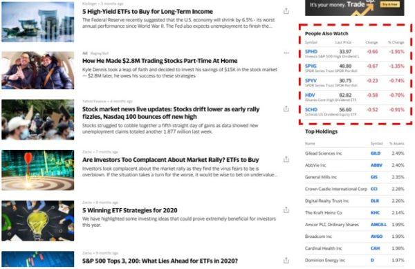 Yahoo!Finance 他に見られている参考銘柄